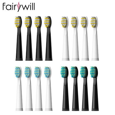 Fairywill 4 Electric Toothbrush Replacement Heads for Fairywill Sonic Toothbrush