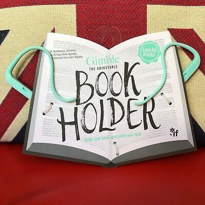 Gimble The Adjustable Book Holder - Absolutely Mint. Will hold any book open!