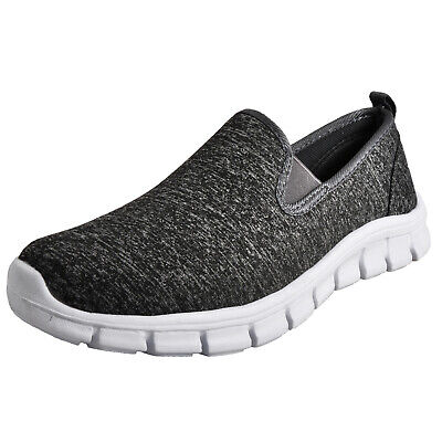Airtech Pro Walk New York Superlite Womens Casual Slip-On Comfy Trainers Grey