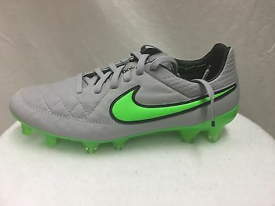 ab3a62ede Nike Men s Tiempo Legend V FG Soccer Cleats Gray Leather Outdoor MSRP  200  NEW