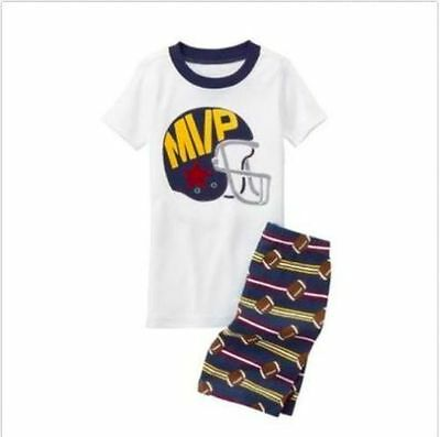 NWT Gymboree Boy Gymmies MVP Shortie Pajama set PJ 2T,3,4,5,6,7,8