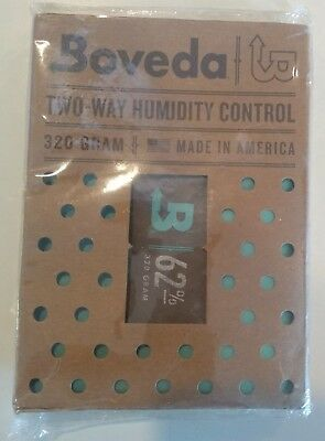 BOVEDA 62% RH 320 GRAM Two-Way Humidity Control INDIVIDUALLY WRAPPED