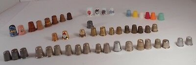 Mixed Lot of  50 Vintage Collectible Thimbles