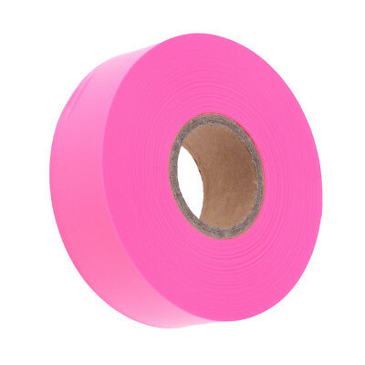 High Visibility Bright Color Non Adhesive Marking Ribbon Flagging Tape Pink