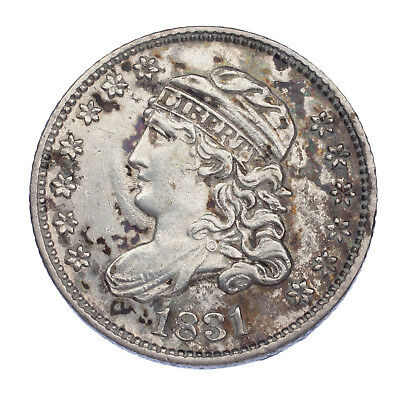 1831 Bust Half Dime H10C XF Condition, Strong Detail for Grade on Both Sides