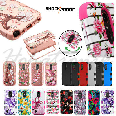 For LG Stylo 4 HYBRID Armor Impact Rubber Shockproof Rugged TPU Phone Case Cover