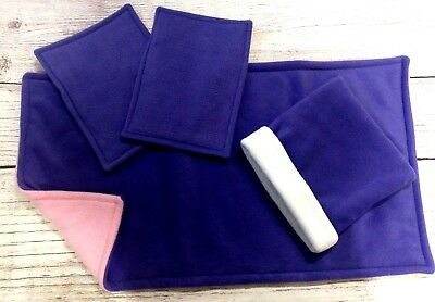 Guinea Pig fleece liner made by ATALAS 80x44cm plus two pee pads and cuddle sack