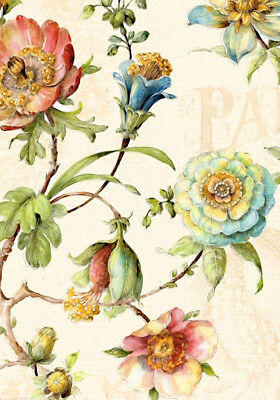 Garden Flowers Roses Vintage French Provincial Quality Canvas Print