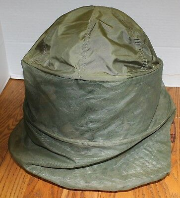 U.s Military Vietnam Boonie Jungle Hat With Insect Mosquito Net Od Green Vgc