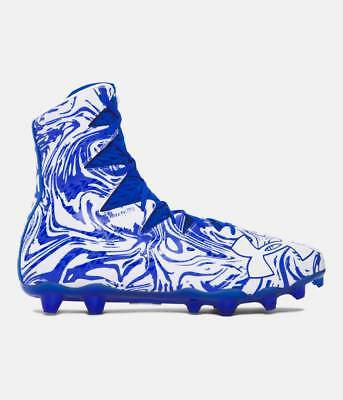 Under Armour Highlight Lux MC Football Lacrosse Cleats Royal Blue White Size 10