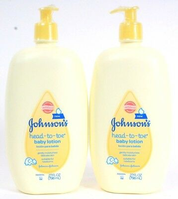 2 Johnsons Head To Toe Baby lotion Gentle Moisturizes Suitable For Newborns 27oz
