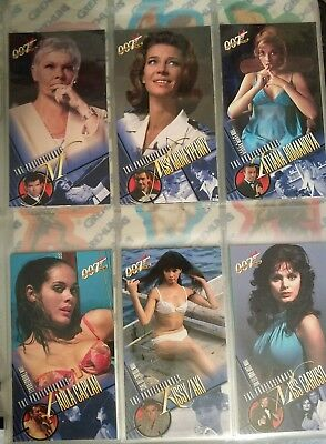 Lot of Women of James Bond Trading Cards