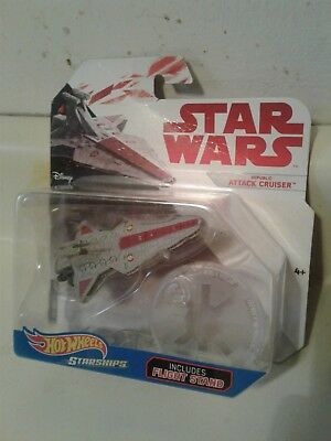 Star Wars Hot Wheels Starships Republic Attack Cruiser (includes stand)