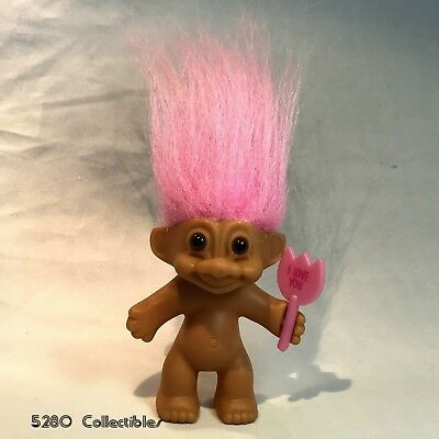 Russ Troll Doll Pink Hair With I Love You Sign Bunny Tail