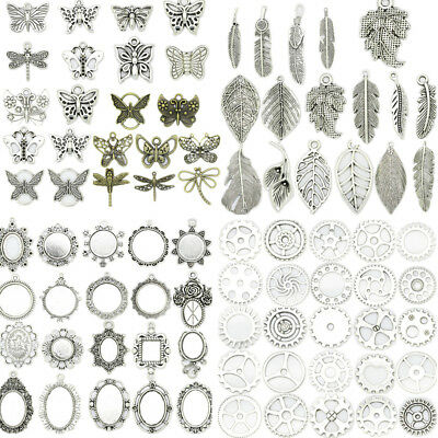 New 69 Kinds Antique Silver Beautiful Crafts Jewelry Making Charm DIY Pendant