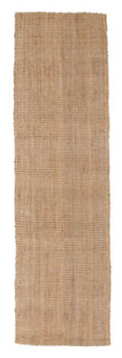 NEW HAMPTON NATURAL BEIGE CHUNKY THICK JUTE FLATWEAVE FLOOR RUNNER 80x300cm