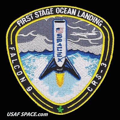 First Stage Ocean Landing - Spacex Falcon-9 Launch - An Excellent Repro Patch
