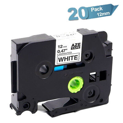 20PK Compatible Brother  P-Touch TZe 231 Black on White Label Tape Laminated