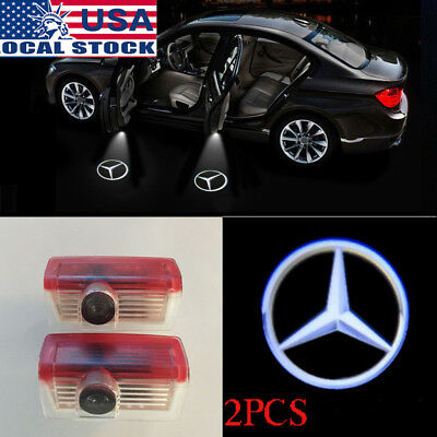 2× For Mercedes Benz Welcome Car LED Door Projector Logo Ghost Shadow Light US