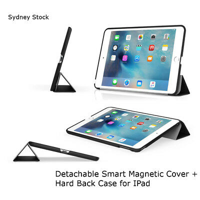 Detachable Smart Cover Magnetic Auto Sleep Hard Back Case for IPad Air 2