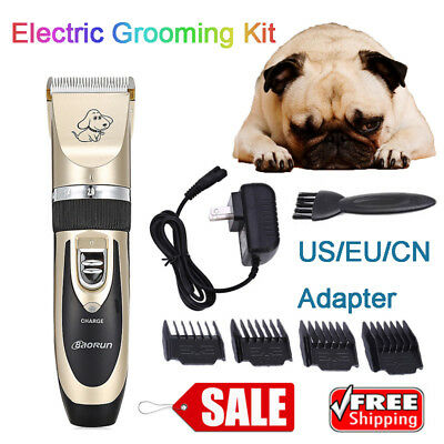 Professional Electric Pet Dog Cat Hair Clipper Trimmer Shaver Razor Grooming Kit