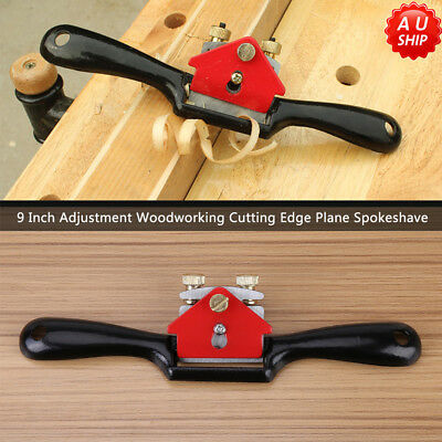 "9"" Adjustment Woodworking Cutting Edge Plane Spokeshave Hand Trimming Tool AU"