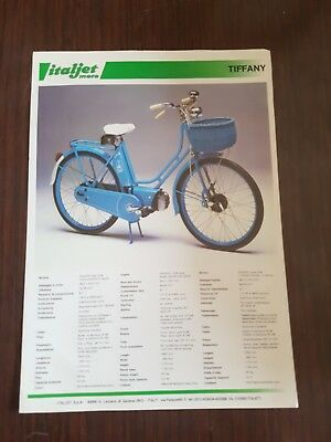 Italjet Pack 2 50 Tiffany 50 1982 depliant originale brochure