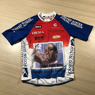 e9f7005ed Vintage Men s Medium Cannondale Louis Armstrong Post Office Cycling Jersey M