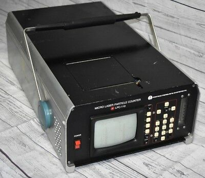 1987 Micro Laser Particle Counter P.M.S. Model LPC-110 - Powers On & Vacuum