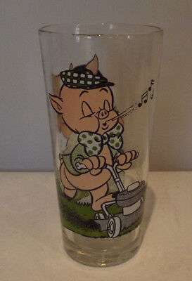 Vintage Porky Pig and Petunia Looney Toons Large Pepsi Tumbler Character Glass