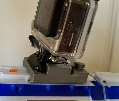 Nerf To GoPro Rail Mount, Works for many rails, Variable Colors, 3D Printed