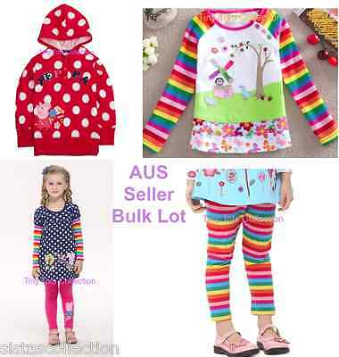 NEW with tags BNWT girls bulk lot Peppa pig top tunic leggings sweater size 1
