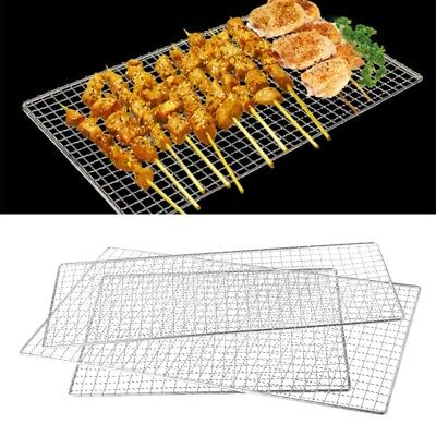 Stainless Steel BBQ Barbecue Grill Grilling Mesh Wire Net Outdoor Cooking 3 Size