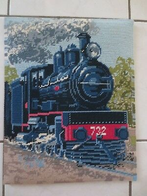Craft Tapestry Steam Train 732 Completed & Framed