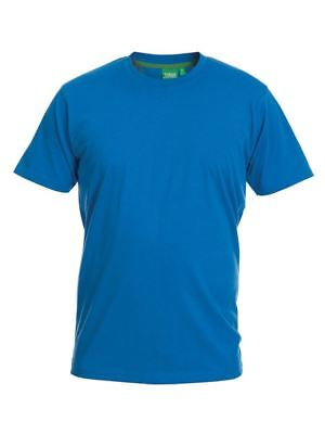 D555 Premium Weight Combed Cotton Crew Neck T-Shirt in Blue