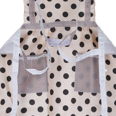 Cute Kitchen Restaurant Girls Women Bib Cooking Aprons Gift With Pocket Z