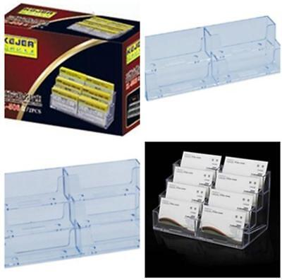 Large capacity Cear Business Card Holder Case Office Home Desk Storage Box