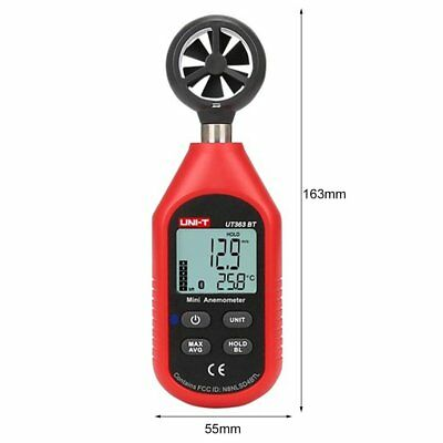 UT363BT Wind Speed Meter Digital Bluetooth Portable Anemometer Thermometer ZD