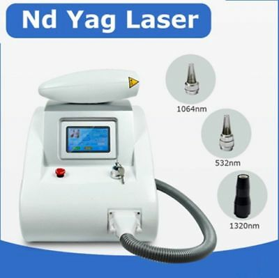 Portable 532nm 1064nm Tattoo Removal Q Switch YAG LASER Beauty Salon machine CE