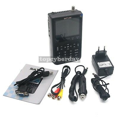 "SATLINK WS-6906 Digital Satellite Signal Finder Meter 3.5"" LCD DVB-S FTA Data"