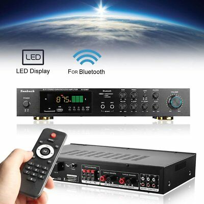 220V 5 Channel Bluetooth Hi-Fi Power Amplifier Stereo Surround Sound Karaoke ZD