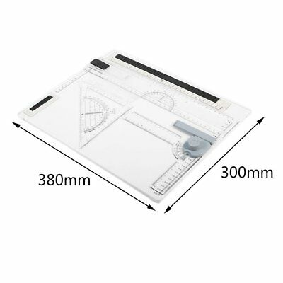 38*30cm A4 Drawing Board Office Graphic Design Work Drafting With StraightedgeZD