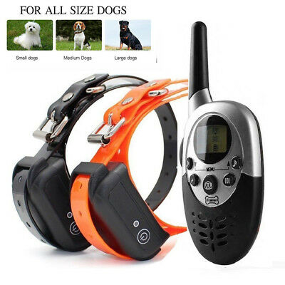 1000 Yards Waterproof 2 Pet Dog Shock Training Collar with Remote Rechargeable
