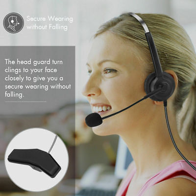 Noise Cancelling Call Center Headset Comfortable Wearing Sound Telephone Headset