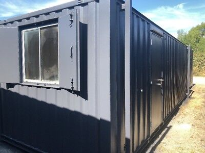24ft x 9ft  Anti Vandal Jack Leg Site Office/Portable Building/Canteen Container