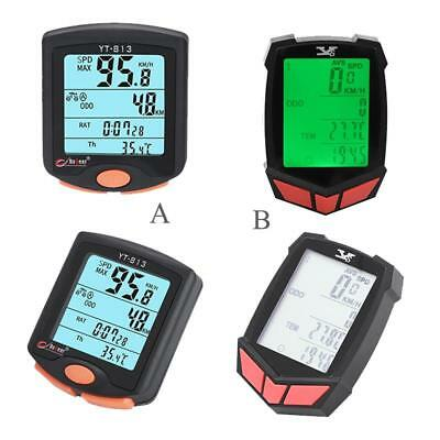 Wireless LCD Bike Computer Speed Odometer Waterproof Speedometer Cycle Bicycle Z