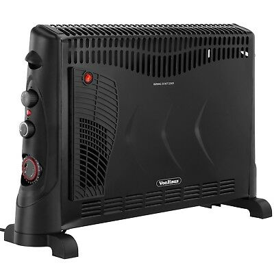 VonHaus Convector Heater 2000W Electric - 3 Heat Settings, Turbo & Timer