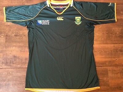 2011 South Africa World Cup Springboks Rugby Union Shirt Adults XL Jersey