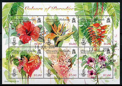 Pitcairn Islands 2018 CTO Colours of Paradise Hibiscus 6v M/S Flowers Stamps