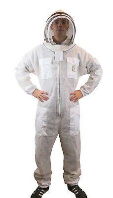 3 Layer Ventilated Beekeepers Bee Suit With Fencing Veil